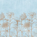 Vintage Florals Botanical Paper Background Stock Photo