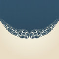 Vintage flourish engraving pattern border frame Royalty Free Stock Images