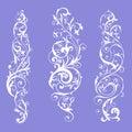 Vintage flourish swirls collection Royalty Free Stock Photo