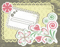 Vintage flower frame design for greeting card Royalty Free Stock Images