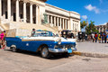 Vintage Ford parked at the Capitol in Havana Royalty Free Stock Photography