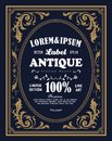 Vintage frame border label retro hand drawn engraving antique Royalty Free Stock Photo