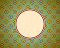 Vintage frame with circles Royalty Free Stock Photos