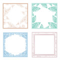 Vintage frame collection different floral and decorative set copyspace Stock Image