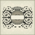 Vintage frame with crown the vector image Stock Photography