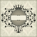 Vintage frame with crown the vector image Stock Photo