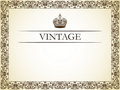 Vintage frame decor Stock Images