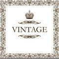 Vintage frame decor crown Stock Image