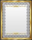 Vintage frame for design. blank for message.