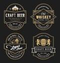 Vintage frame design for labels, banner, sticker and other design