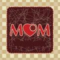 Vintage frame design for mother day. EPS 8