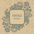 Vintage frame with floral decoration Royalty Free Stock Photos