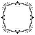 Vintage frame flourish black on white Stock Images