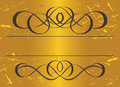 Vintage frame in gold. Symmetric inward. Vector Il Stock Photography