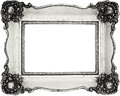 Vintage frame isolated on white inner and outer clipping paths included Royalty Free Stock Image