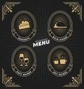 Vintage frame and label for restaurant menu