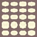 Vintage frame labels. Rectangle and oval wedding frames. Antique label with border vector set Royalty Free Stock Photo