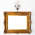 Vintage Frame and Lamp Royalty Free Stock Photo