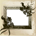 Vintage frame with orchid Royalty Free Stock Image