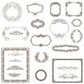 Vintage frame ornament and element for decoration and design Royalty Free Stock Photos