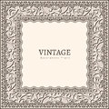 Vintage frame ornamental picture background Royalty Free Stock Image