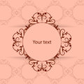 Vintage frame with place for your text Royalty Free Stock Photo