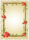 Vintage frame with roses Stock Image