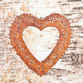 Vintage frame on rustic wooden background made from birch Royalty Free Stock Images