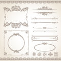 Vintage frame set classic old style vector Royalty Free Stock Photography