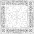 Vintage frame sketch in grey ornamental design element Stock Photography