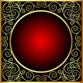Vintage frame with spiral gold(en) pattern Stock Images