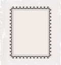 Vintage frame template for post card Stock Photos