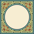 Vintage frame vector colored ornamental celtic Stock Photo