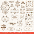 Vintage Frames and Banners, Calligraphic Elements Royalty Free Stock Photo