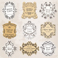 Vintage Frames, Calligraphic Design Elements Royalty Free Stock Photography