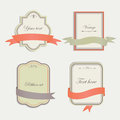 Vintage frames with cute ribbons Royalty Free Stock Image