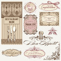 Vintage frames and decoration Stock Photo