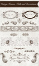 Vintage frames frills and decorations hand draw Royalty Free Stock Images