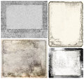 Vintage frames grunge texture paper four with frame for your next project Stock Images