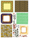 Vintage frames and patterns Royalty Free Stock Images