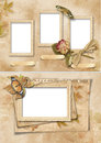 Vintage frames set. Family album Royalty Free Stock Photos