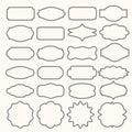 Vintage frames vector clipart bundle. Old frame shapes, decorative label and retro shape vector set