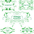 Vintage frames. Vector design elements. Eco green Stock Image