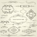 Vintage frames, vignettes and calligraphy dividers and separator Royalty Free Stock Photo