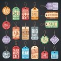 Vintage free price tag vector web collection Royalty Free Stock Photo