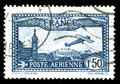 Vintage French aircraft stamp Royalty Free Stock Photo