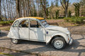 Vintage French car Citroen 2CV Royalty Free Stock Photo