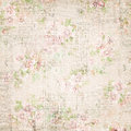 Vintage french floral shabby floral chic wallaper Royalty Free Stock Photo