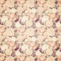 Vintage french floral shabby floral chic wallaper antique wallpaper in soft peach and brown colors Stock Photography