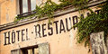 Vintage french hotel sign Royalty Free Stock Photo